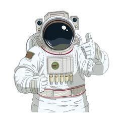 Astronaut gesture okay vector image vector image
