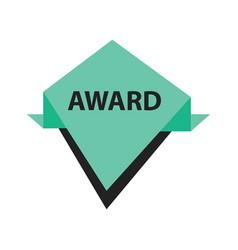 Award label design black green vector