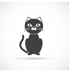 Black cat icon vector image vector image