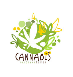 Cannabis label original design logo graphic vector