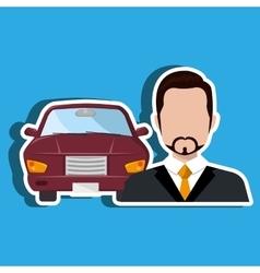 Car salesman design vector