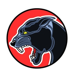 Circle badge panther vector