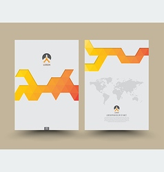 Cover template front and back triangle pattern vector image vector image
