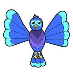 Cute fantasy bluebird vector