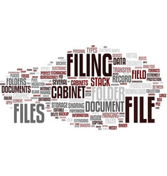 Filing word cloud concept vector