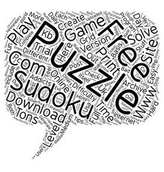 Free sudoku puzzle text background wordcloud vector