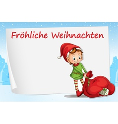 German Christmas Greeting vector image