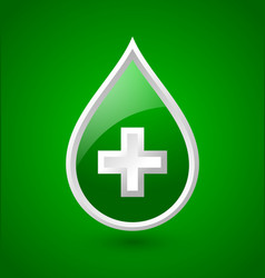 Green blood medical icon vector image vector image