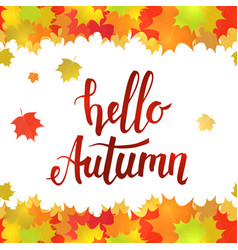 Hello autumn horizontal seamless border vector