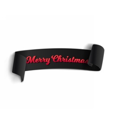 Marry christmas banner template vector