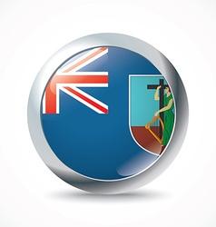 Montserrat flag button vector