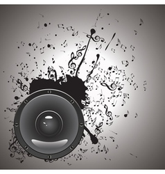 Music poster with audio speaker2 vector