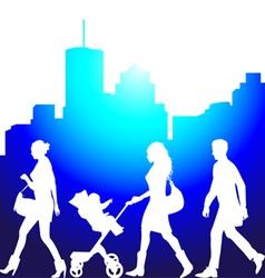 pedestrians vector image vector image