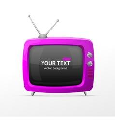 Pink retro tv vector