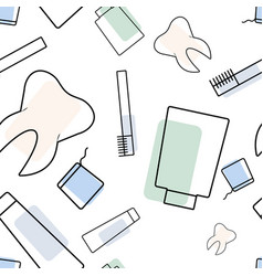 Seamless dentist pattern vector