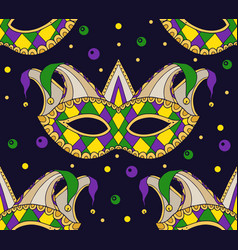 Seamless festive pattern with masks vector