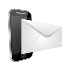 Send an email by phone vector image vector image