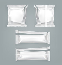 unfolded food plastic package templat vector image