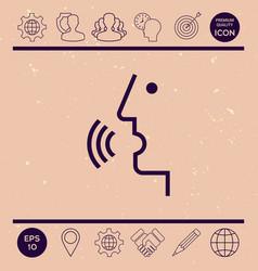 Voice control person talking - icon vector
