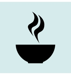 Cup coffee smoke icon vector