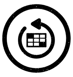 Refresh calendar rounded grainy icon vector