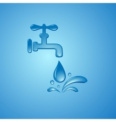 Save water sign symbol background vector