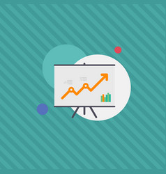 Graph monitoring growth satistics flat illu vector