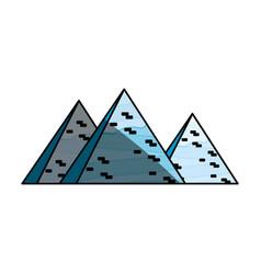 Egyptian pyramids symbol vector