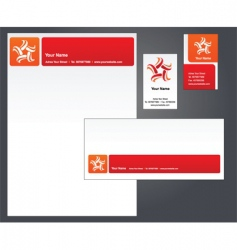 Stationery template with star logo vector
