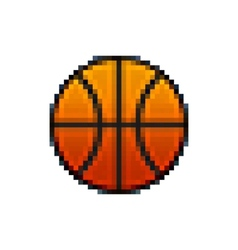 Pixel basketball vector