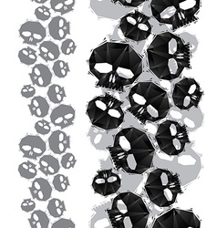 Skulls seamless pattern vertical composition vector