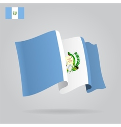 Flat and waving guatemala flag vector