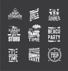 Set of summer holidays vector