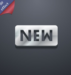 New icon symbol 3d style trendy modern design with vector