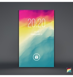 Modern lock screen for mobile apps vector