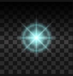 Blue glow light effect vector