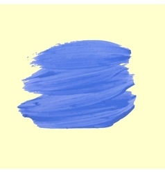 Blue stroke of paint vector