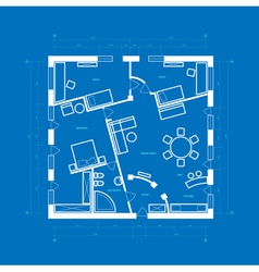 blueprint of apartment vector image