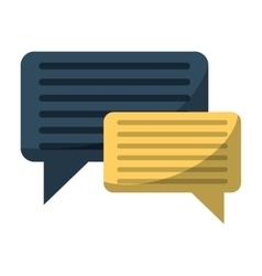 Bubble speech message discussion vector
