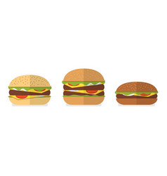 Burger bread icons menu design elements vector