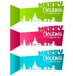 Christmas banners village vector