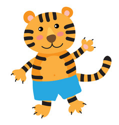 cute cartoon tiger vector image
