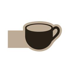 dark contour cup icon vector image vector image