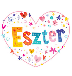 Eszter hungarian girls name vector