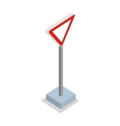 Give way - traffic sign vector