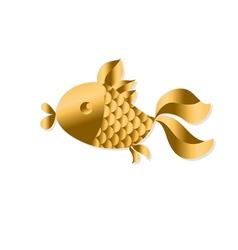 gold fish Art Nouveau style vector image vector image