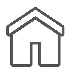 grayscale contour with home icon vector image