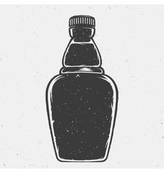 Hand drawn bottle or a flask good shape vector