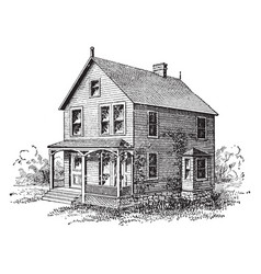 House vintage vector