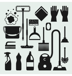 Housekeeping cleaning icons set Image can be used vector image